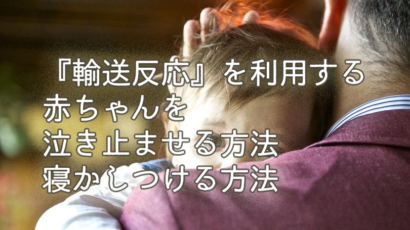 輸送反応を利用せよ!【パパ必見】赤ちゃんを泣き止ませる方法