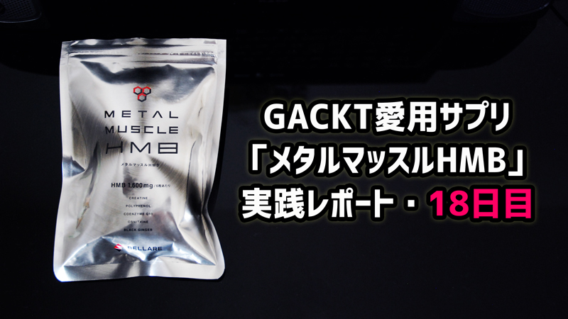 GACKT愛用筋肉サプリ「メタルマッスルHMB」実践レポート・18日目