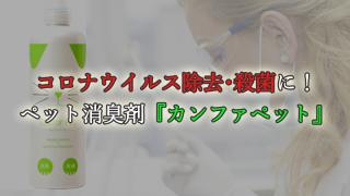 コロナウイルス除去・殺菌にも使える!ペット消臭剤『カンファペット』
